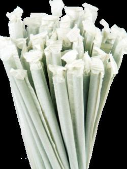 10.25″ Wrapped Giant Green Straws