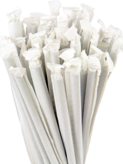 10.25″ Wrapped Giant Natural Straws