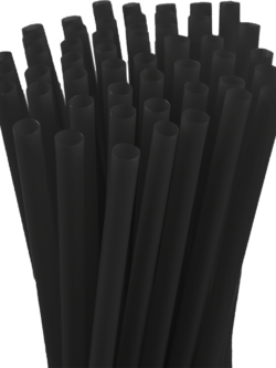 7.75″ Unwrapped Jumbo Black Straws