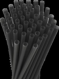10.25″ Unwrapped Giant Black Straws