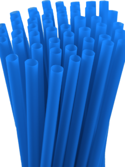 7.75″ Unwrapped Jumbo Blue Straws