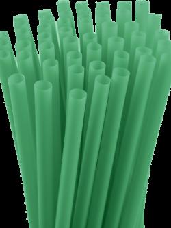 7.75″ Unwrapped Jumbo Green Straws