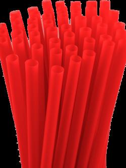 7.75″ Unwrapped Jumbo Red Straws