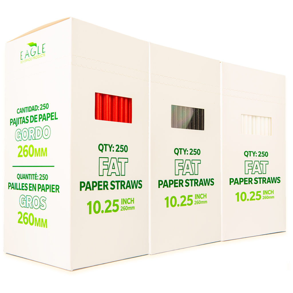 10.25″ Fat Paper Straws (Multi-Pack)