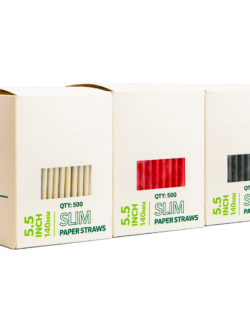 5.5″ Slim Paper Straws (Multi-Pack)