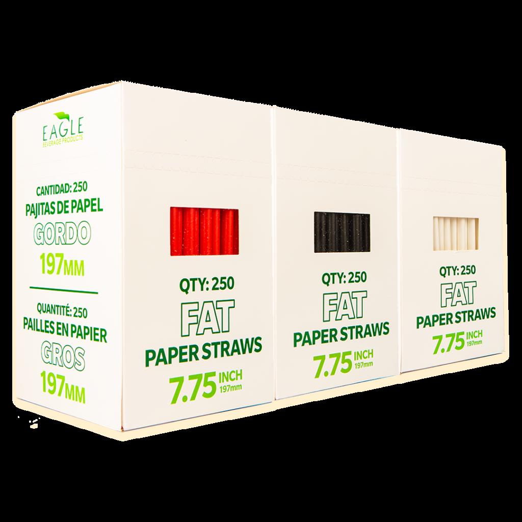 7.75 Fat Paper Straws (Multi-Pack)