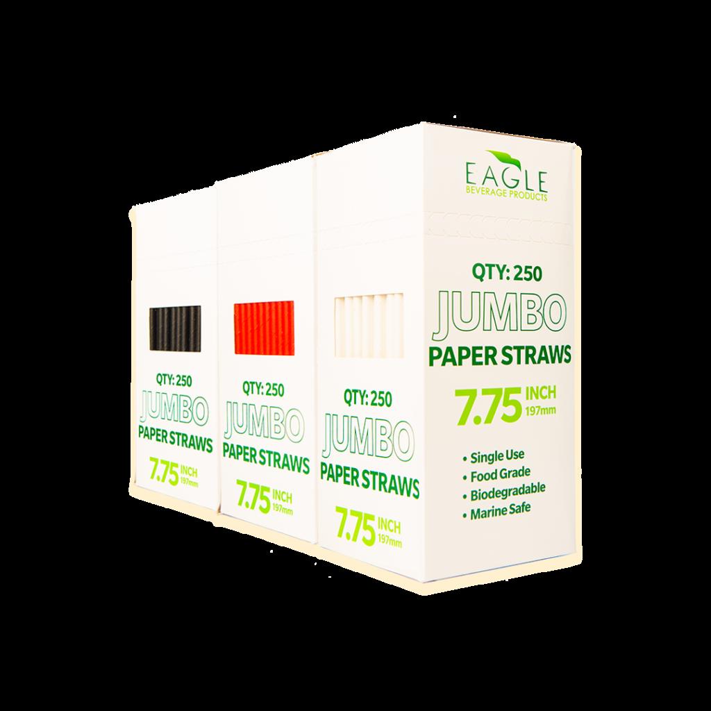 7.75″ Jumbo Paper Straws – Multi-Pack