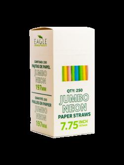 7.75″ Jumbo Neon Paper Straws