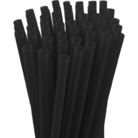 7.75″ Unwrapped Jumbo Black Straws