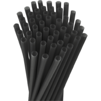 10.25″ Unwrapped Giant Black Straws