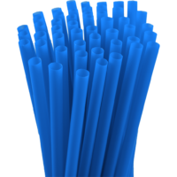 7.75″ Unwrapped Jumbo Blue Straws