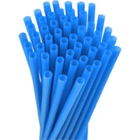 10.25″ Unwrapped Giant Blue Straws