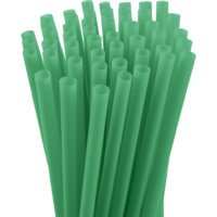 7.75″ Unwrapped Jumbo Green Straws