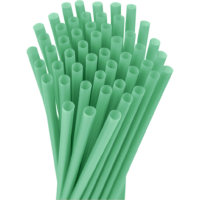 10.25″ Unwrapped Jumbo Green Straws