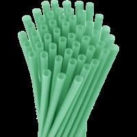 10.25″ Unwrapped Jumbo Green Straws