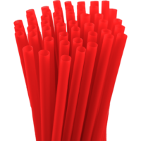 7.75″ Unwrapped Jumbo Red Straws
