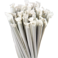 7.75″ Wrapped Jumbo Black Straws