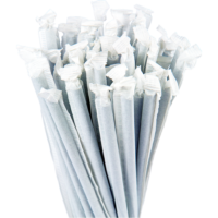 7.75″ Wrapped Jumbo Blue Straws