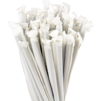 7.75″ Wrapped Jumbo Natural Straws